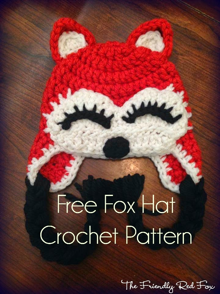Free Fox Hat Pattern - thefriendlyredfox.com 9b61e1b4ac3