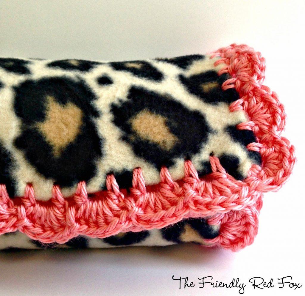 crocheted edge finished