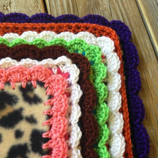 Crochet Edge On Fleece Blanket Tutorial Thefriendlyredfoxcom