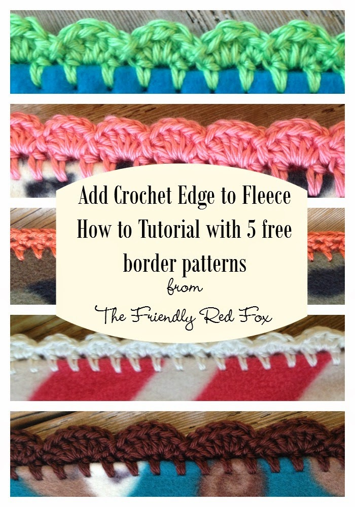 Crochet Edge on Fleece Blanket Tutorial - thefriendlyredfox.com