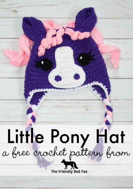 Free Crochet Little Pony Hat