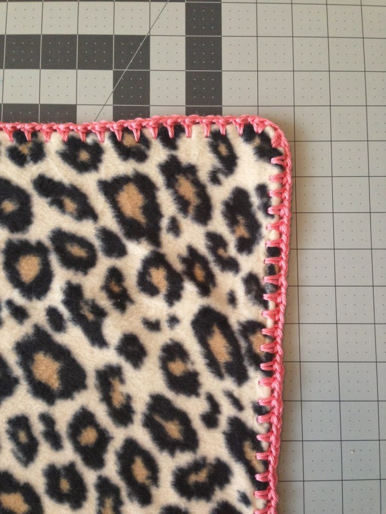 crocheting edge on material