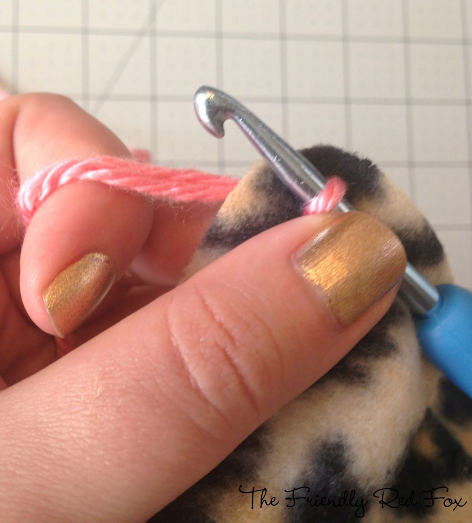 crocheting with hook