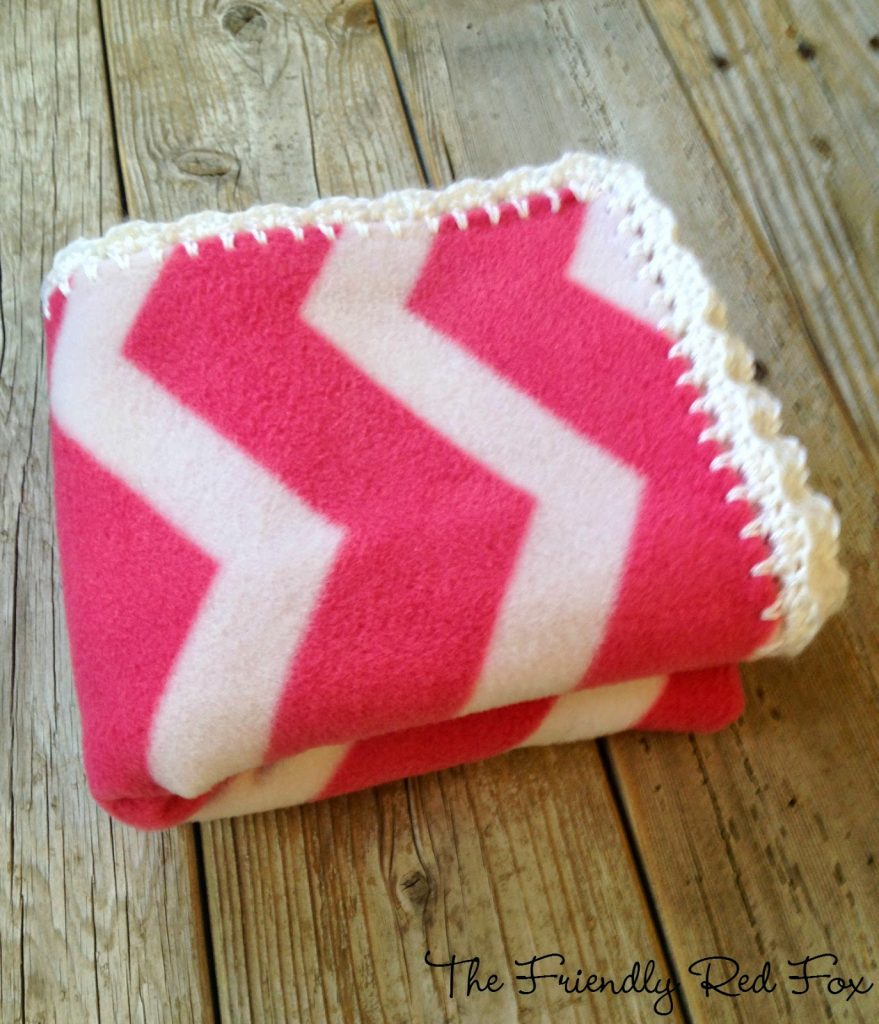 blanket with crocheted edges