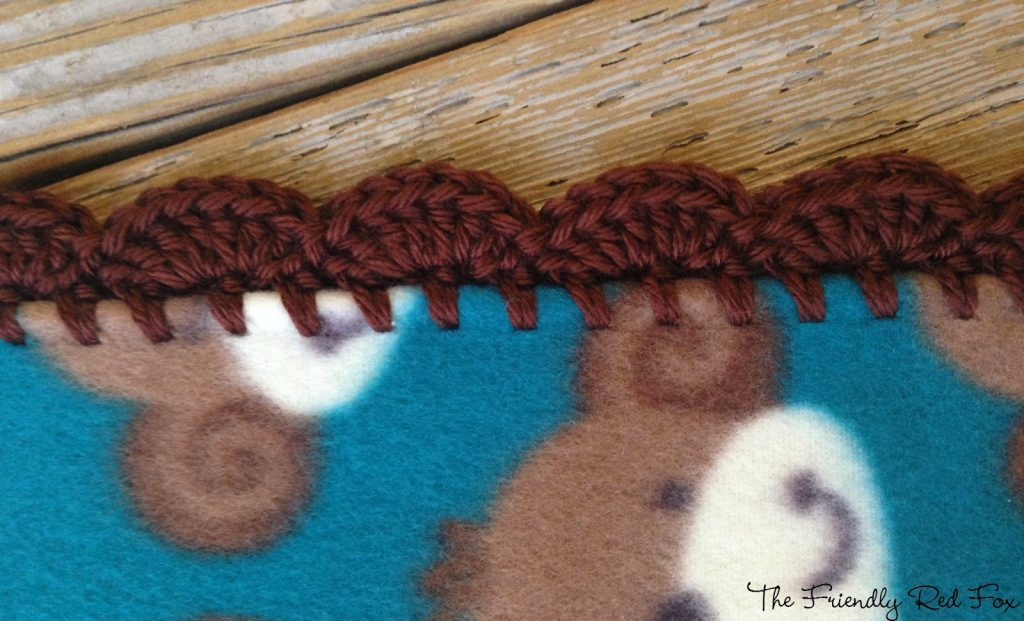 close up view crocheted edge
