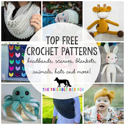 top free crochet patterns promo graphic