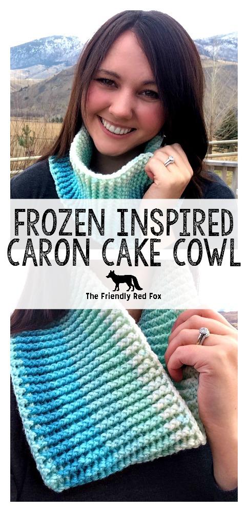Free Pattern Frozen Inspired Caron Cake Cowl Part 2