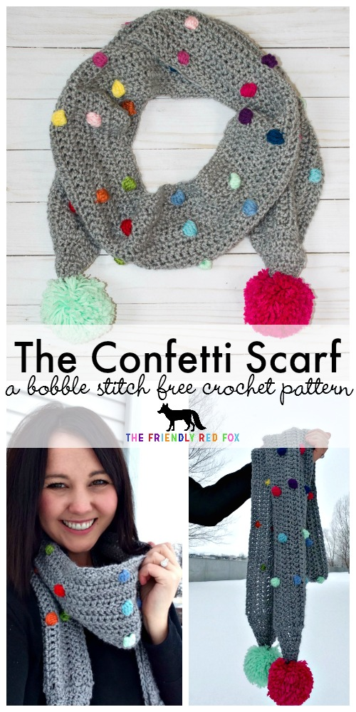 Free Crochet Pattern Confetti Scarf With Bobble Stitch Part 2
