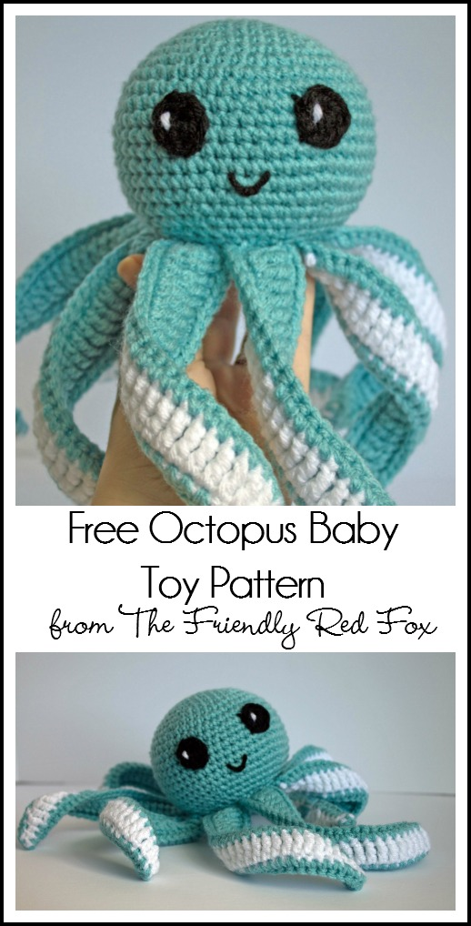 Amigurumi Octopus Baby Toy Free Pattern Thefriendlyredfox