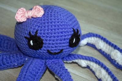 crocheted octopus purple