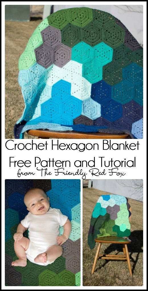 Crochet Hexagon Blanket Pattern and Tutorial