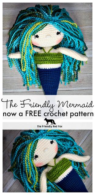 The Friendly Mermaid Crochet Doll