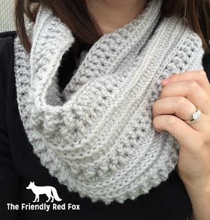 crochet scarf close up