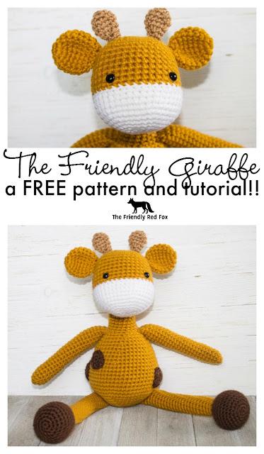 The Friendly Giraffe- A Free Amigurumi Crochet Pattern