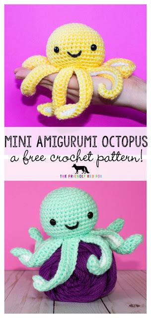 Crochet Pattern for Mini Octopus crochet pattern