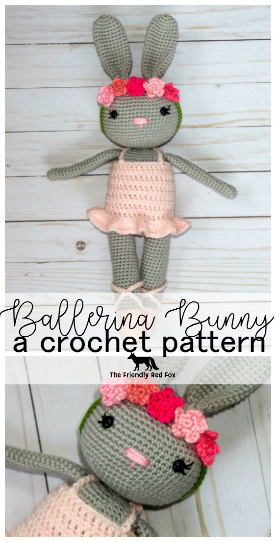 Amigurumi Easter Rabbit Crochet Free Pattern&Video- Crochet #Bunny ... | 1106x563