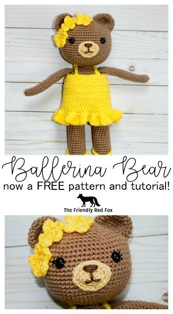 Free Crochet Bear Ballerina Pattern