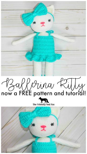 Free Crochet Kitty Pattern- Ballerina