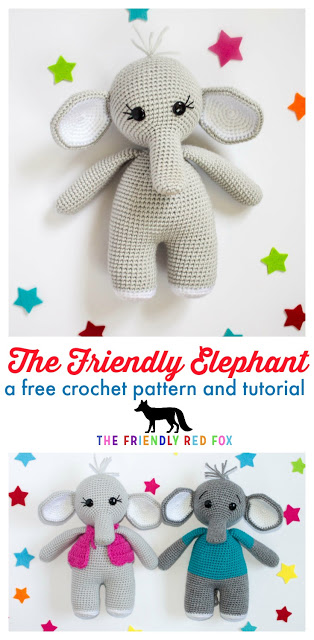 The Friendly Crochet Elephant- Part 2