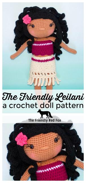 Crochet Doll Pattern- The Friendly Leilani