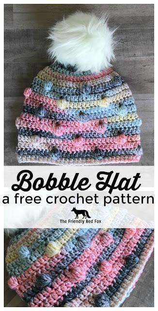 Free Crochet Hat Pattern- The Bobble Hat