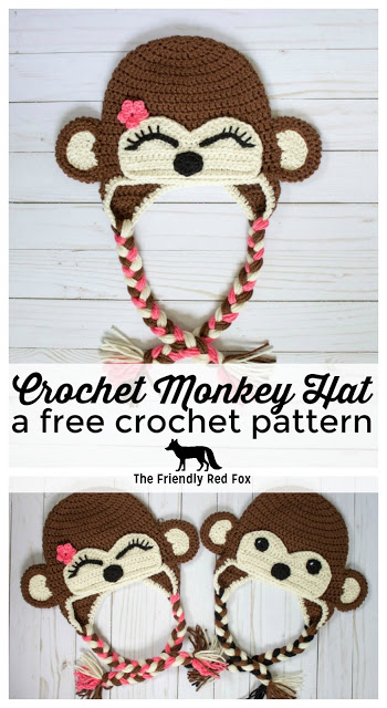Free Crochet Monkey Hat Pattern