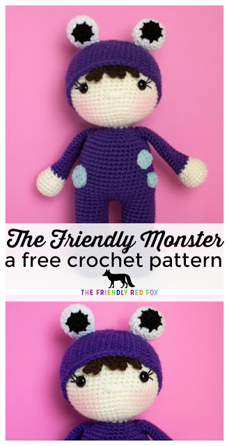 The Friendly Monster- a Free Crochet Pattern