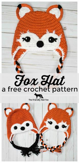 Free Crochet Hat Friendly Fox