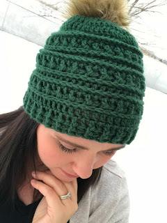 Mountain Ridges Crochet Hat