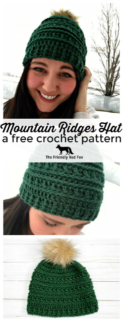 Mountain Ridges Crochet Hat- a free pattern