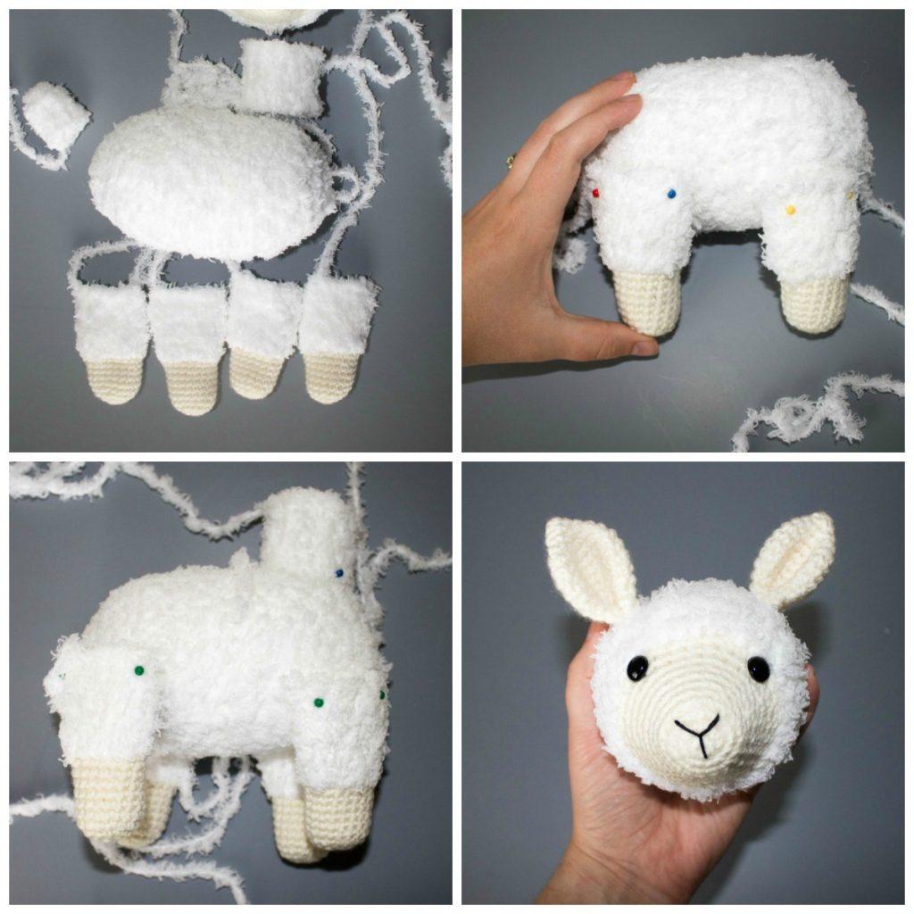 crocheted llama steps