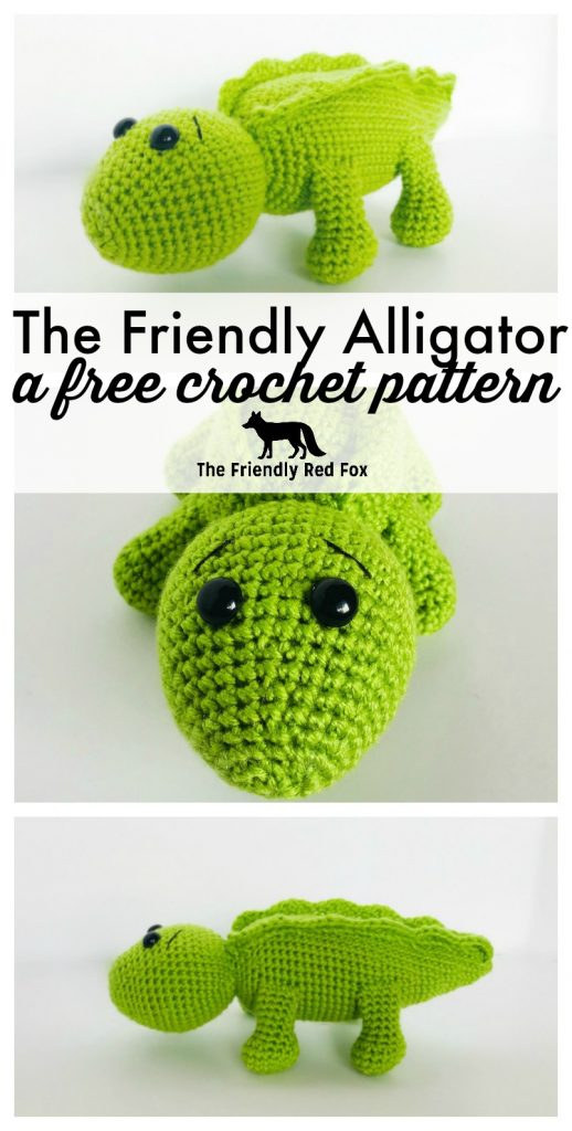 Crochet Alligator Pattern - thefriendlyredfox.com