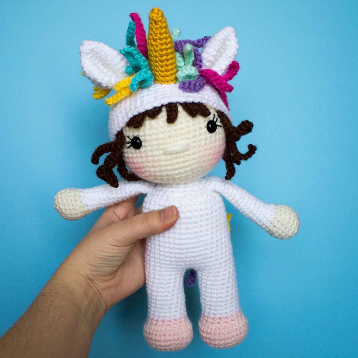 Wanda the Crochet Unicorn Doll