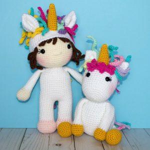 Amazon.com: VietsWay Lil's Fluffy Unicorn Handmade Amigurumi ... | 300x300