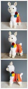 crocheted llama finished views