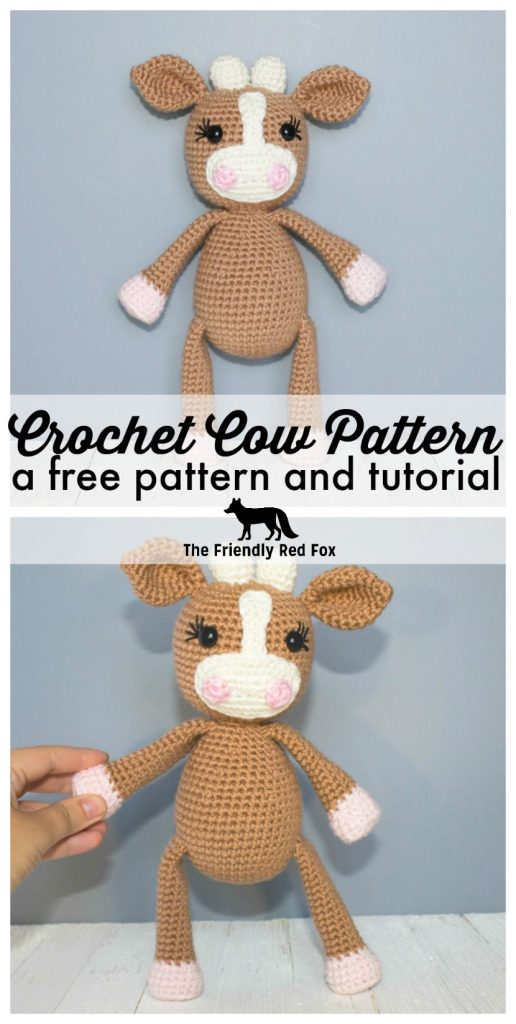 Crochet Cow Pattern Thefriendlyredfox