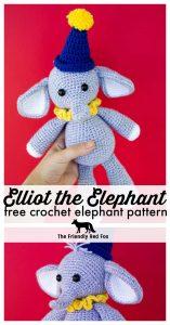 Crochet Elephant Pattern - thefriendlyredfox com
