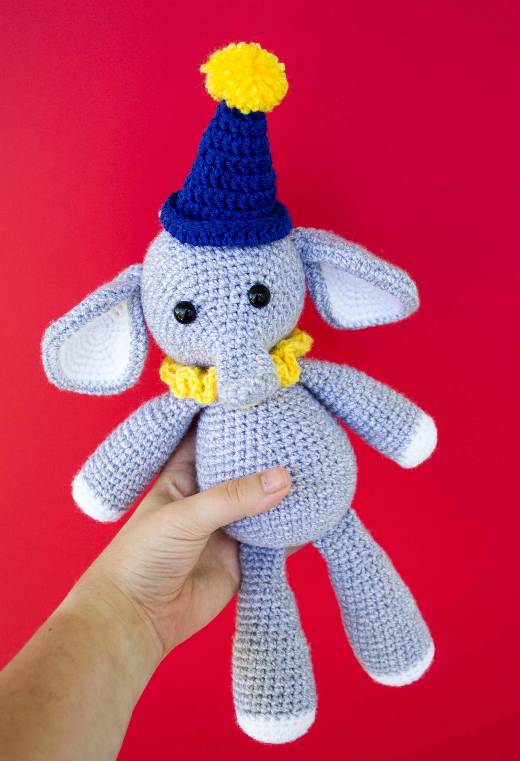 Crochet-A-Day: 9 Crochet Animal Appliqués | Crochet elephant ... | 2576x1759