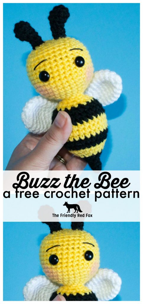 Crochet Bee Pattern - thefriendlyredfox com