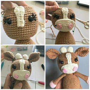 Milky the little cow amigurumi pattern by Mi fil mi calin ...   300x300