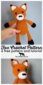 Amazon.com: Farley the Slender Fox - Amigurumi Crochet Stuffed ... | 300x152