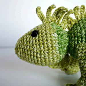 Crochet Iguana Pattern - thefriendlyredfox.com | 300x300