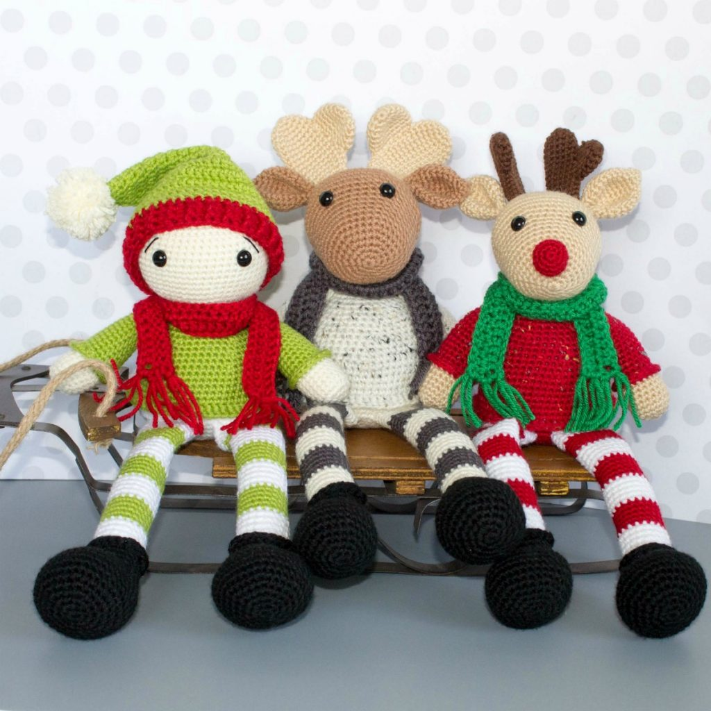 19 Free Amigurumi Christmas Santa Crochet Patterns | Christmas ... | 1024x1024