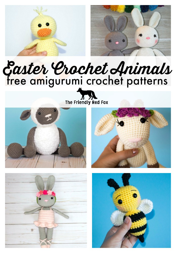 Spring Easter Crochet Animal Patterns Thefriendlyredfoxcom