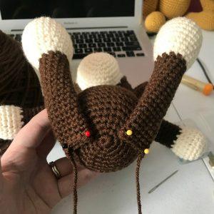 Crochet Monkey bottom view