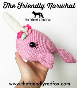 Wanda the Whale and Ned the Narwhal - Crochet Whale - The Loopy Lamb | 300x261