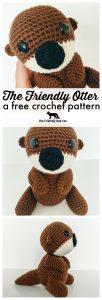 otter crochet pattern promo graphic