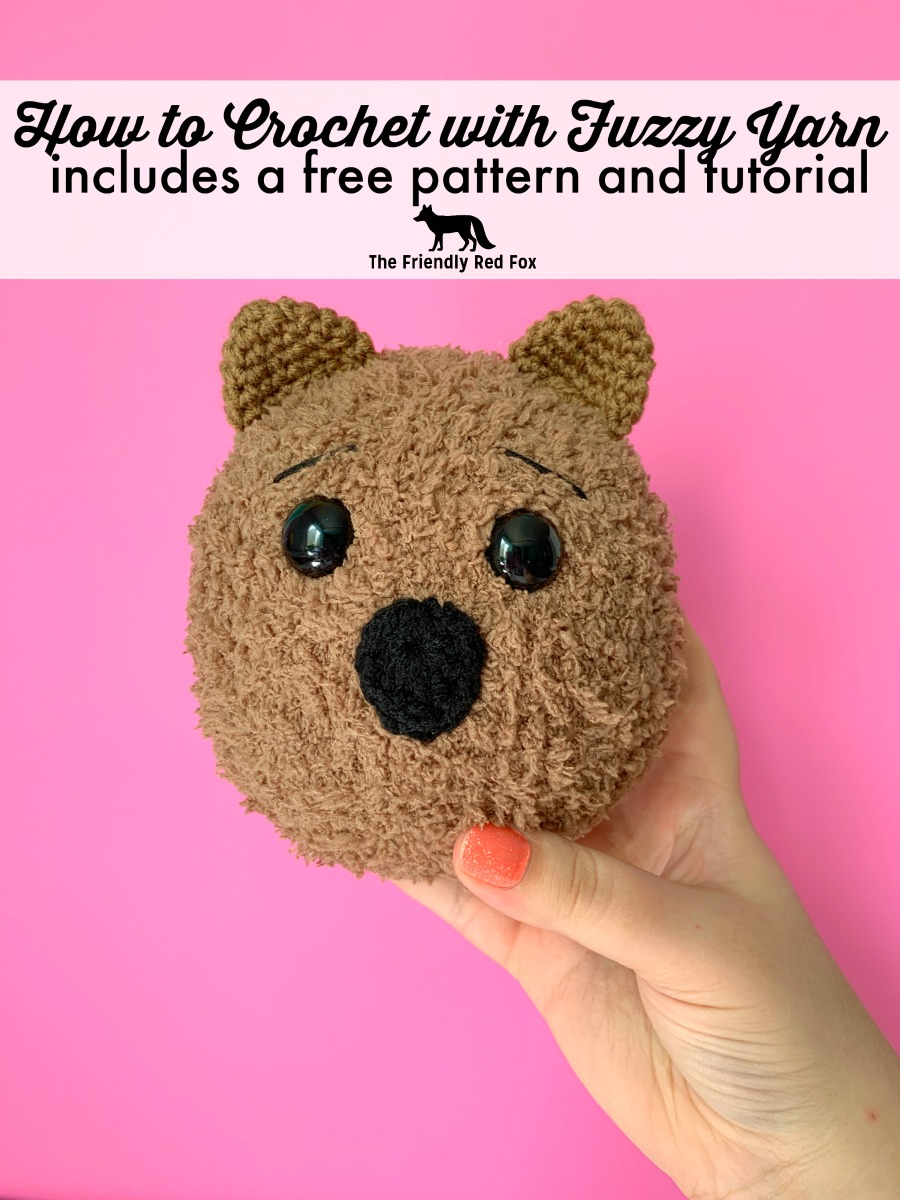 Ten Tips and Tricks for Working with Fuzzy Yarn- Free Quokka Pattern