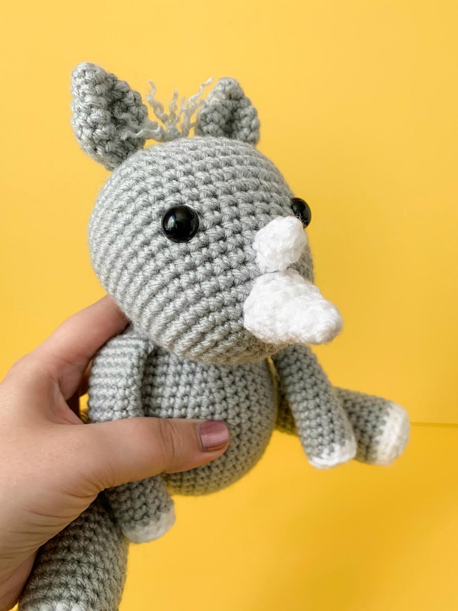 Crochet Rhino Pattern- a Free Amigurumi Rhino Pattern