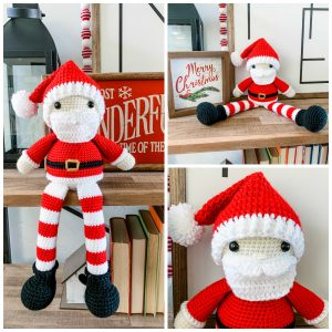 Free Crochet Pattern for a Santa Claus Amigurumi ⋆ Crochet Kingdom | 300x300